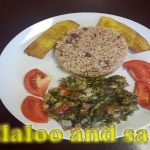 Callaloo and saltfish