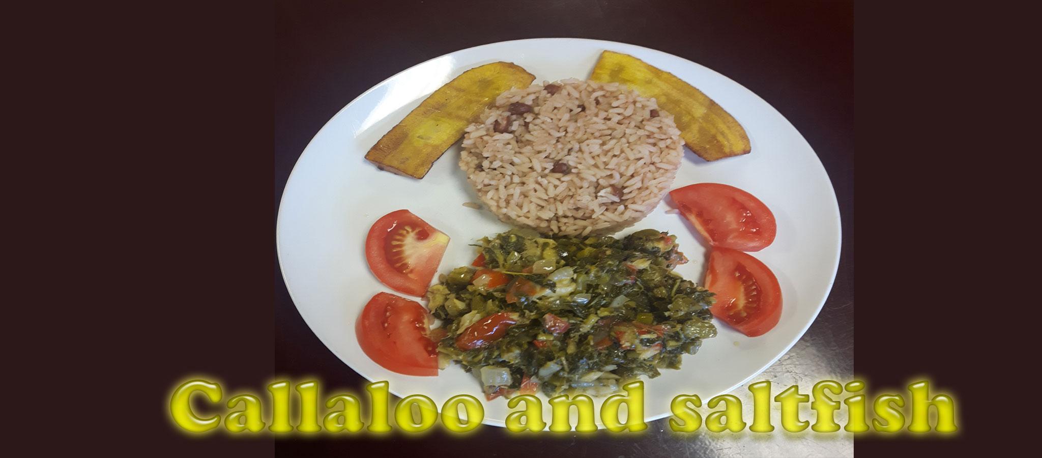 Callaloo and saltfish